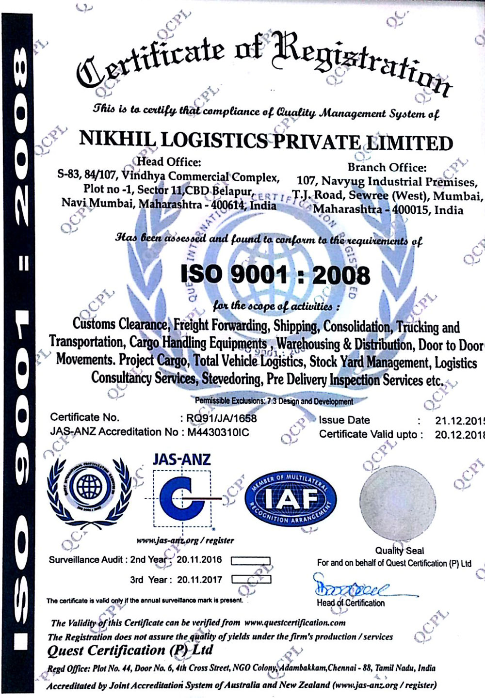 Nikhil Logistics Pvt  Ltd